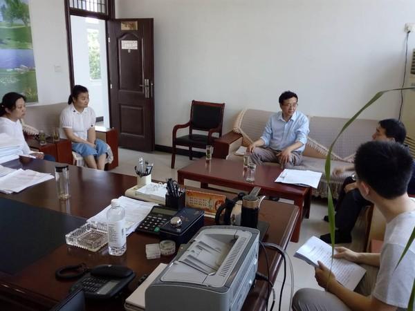 滁州市统计局农调队领导来我市调研特色小镇建设情况