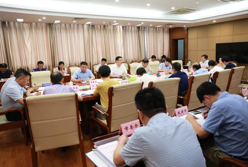 邓继敢主持召开市委常委碰头会 部署安排7月份重点工作