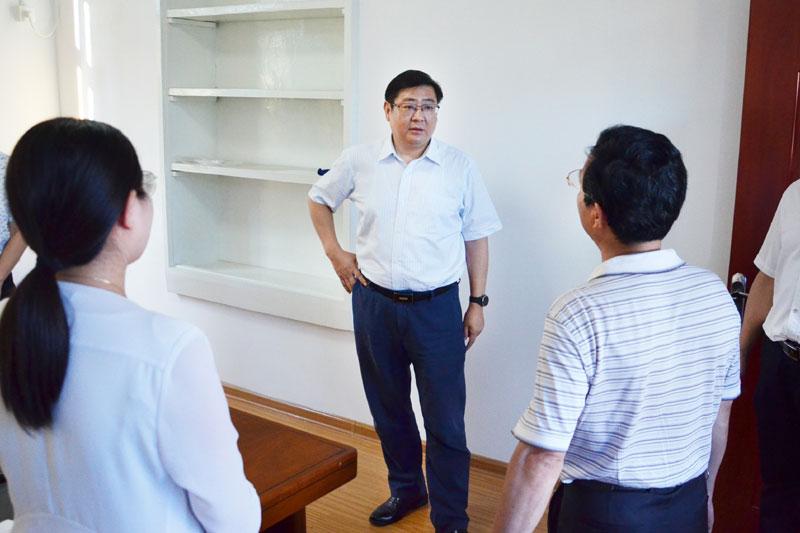朱大纲调研指导市退役军人管理服务中心建设工作
