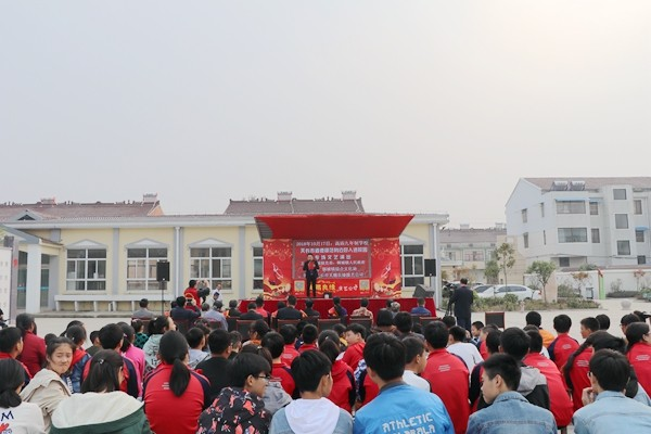 市道德模范身边好人走进校园专场演出在铜城镇高庙九年制学校举行
