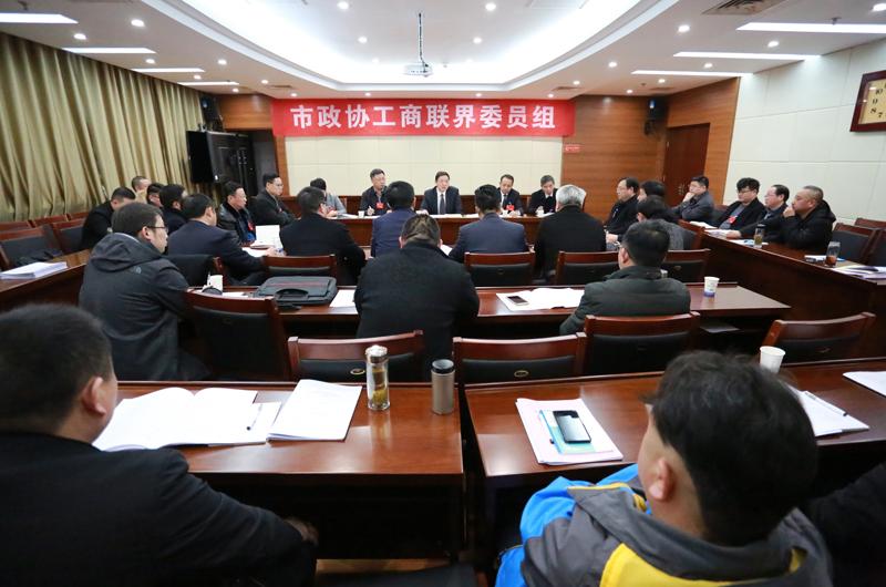 邓继敢参加市政协十届三次会议工商联界委员组讨论