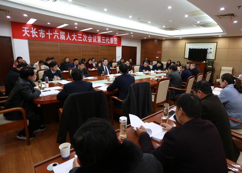 邓继敢参加市十六届人大三次会议第三、第二代表团审议