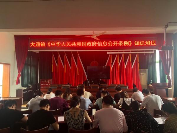 大通镇举办《中华人民共和国政府信息公开条例》知识测试