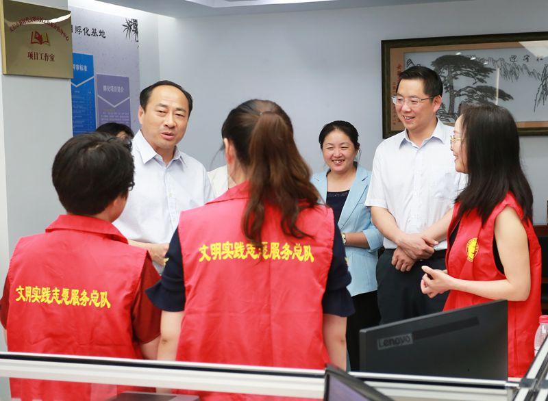 滁州市委副書記朱誠來我市調研新時代文明實踐中心建設工作