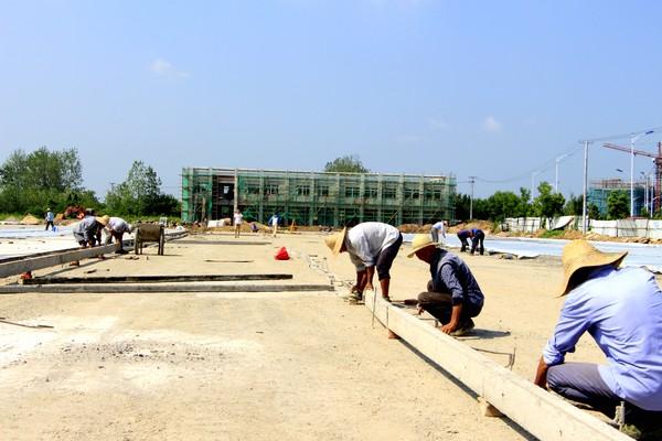 东市区货运停车场建设进入冲刺阶段