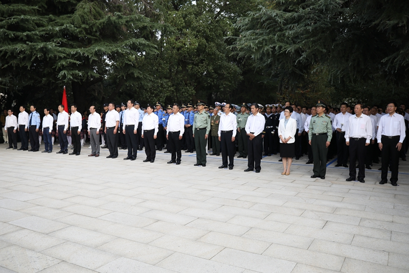 緬懷革命先烈  傳承烈士精神 —— 我市舉行烈士紀念日公祭活動